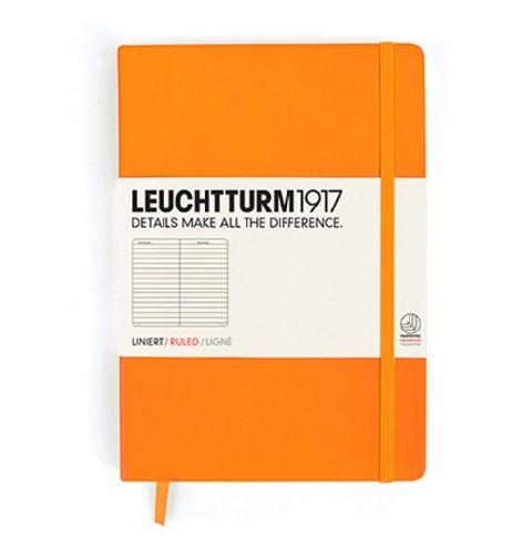 Caiet Leuchtturm A5,249f,dict,orange neon