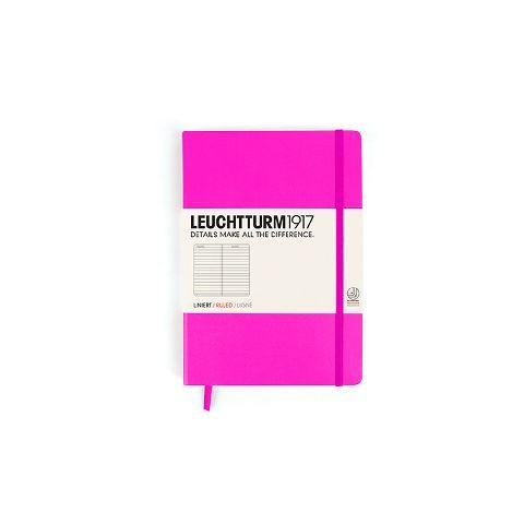 Caiet Leuchtturm A5,249f,dict,roz neon