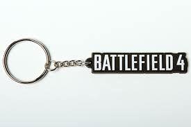 Battlefield 4 Logo Keychain-One Size-MultiColor