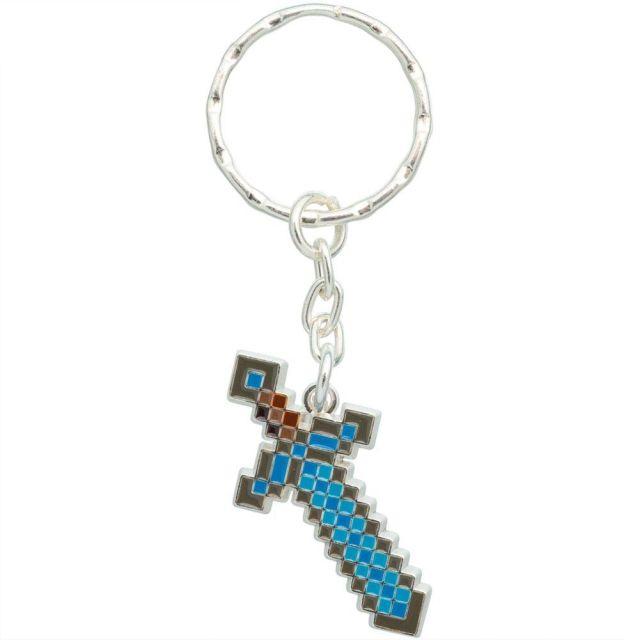 Minecraft Diamond Sword Keychain-One Size-MultiColor