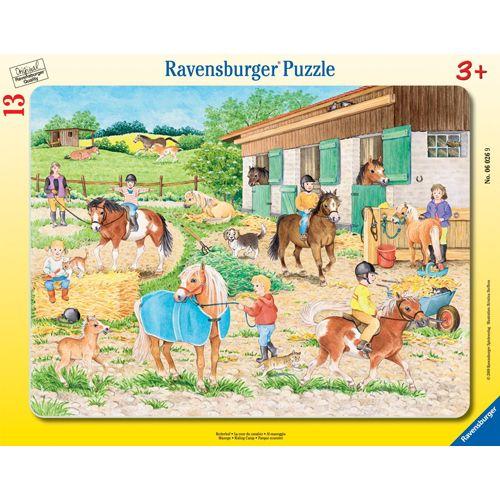 Puzzle adapost de cai, 13 piese