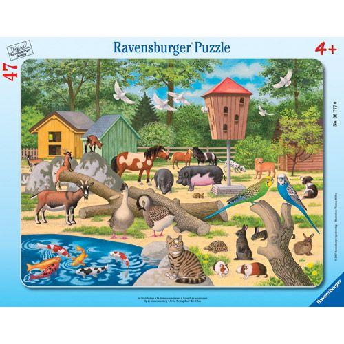 Puzzle la zoo, 47 piese