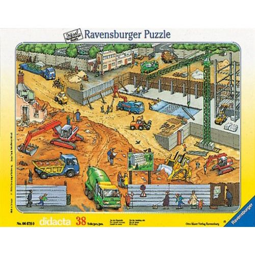 Puzzle constructii pe santier, 38 piese