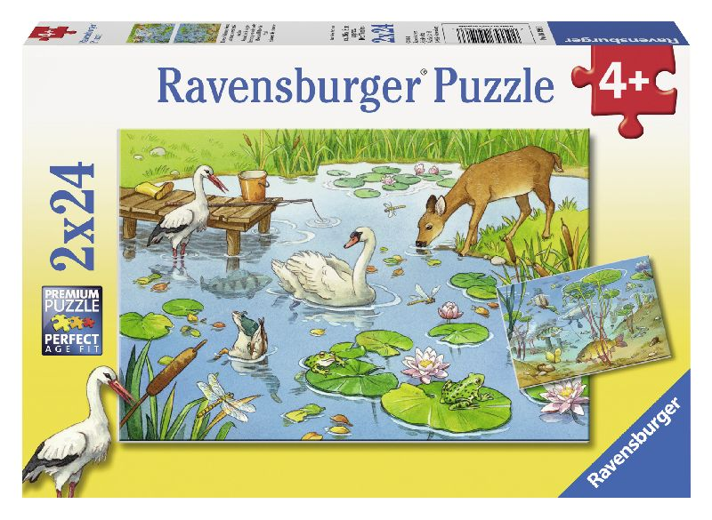 Puzzle lac, 2x24 piese