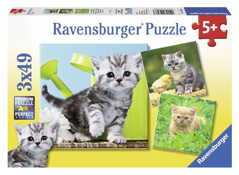 Puzzle pisicute, 3x49 piese