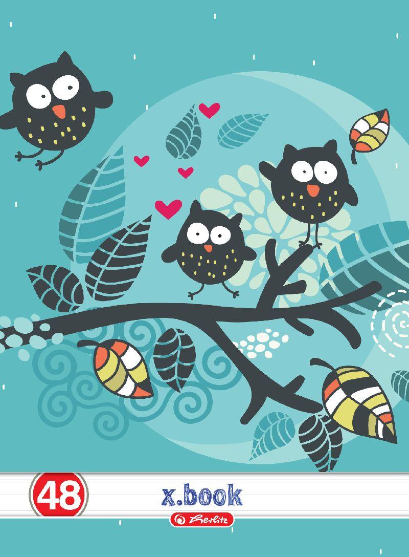 Caiet A4,48file,Owls,dictando