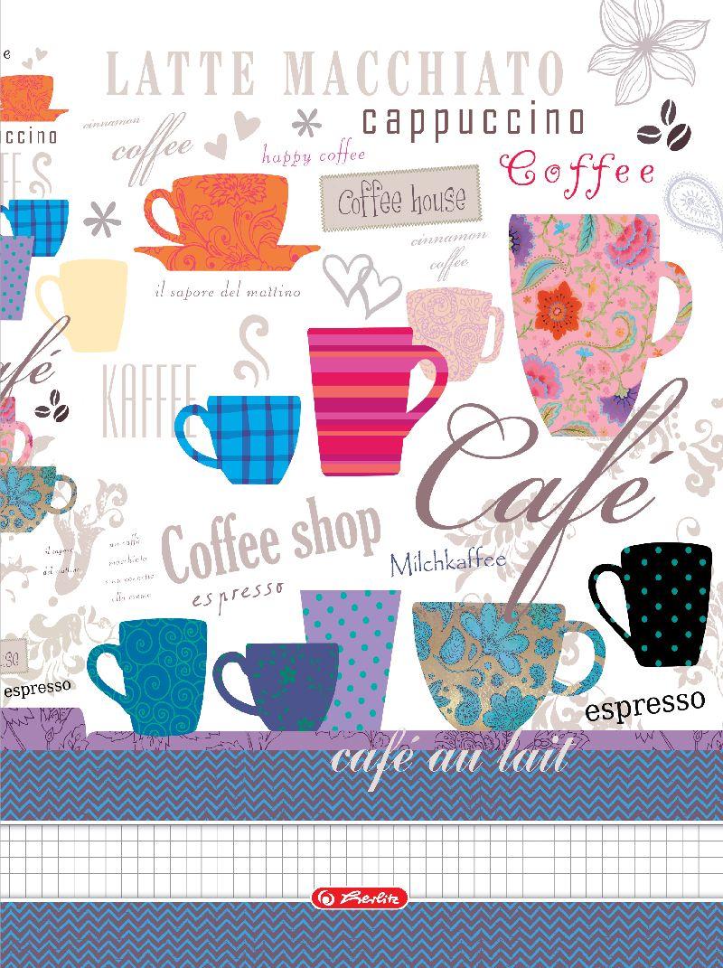 Caiet cu spira A4,70file,Coffee,matematica