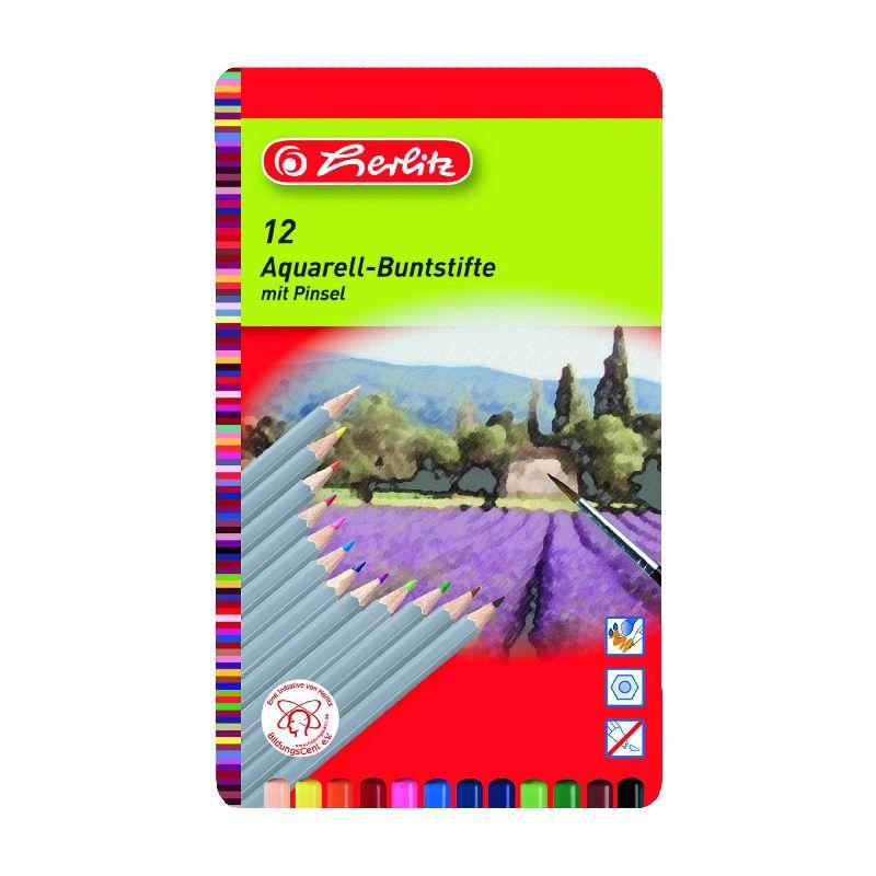 Creioane colorate,12b/set,Acuarella,Herlitz