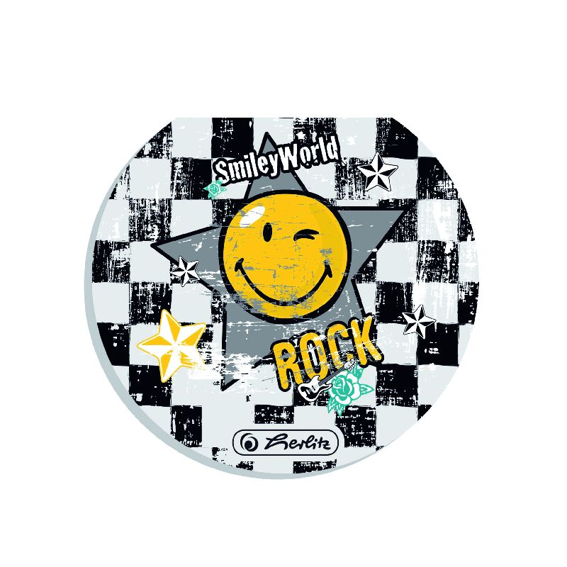 Bloc notes rotund,50file,Smiley Rock