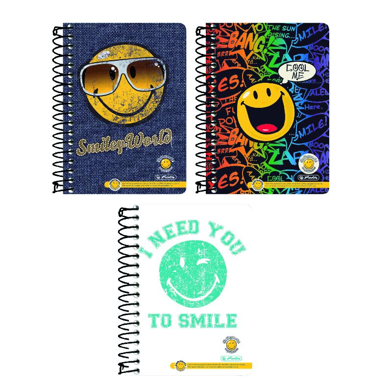 Caiet spira,A6,200file,Smiley,mate