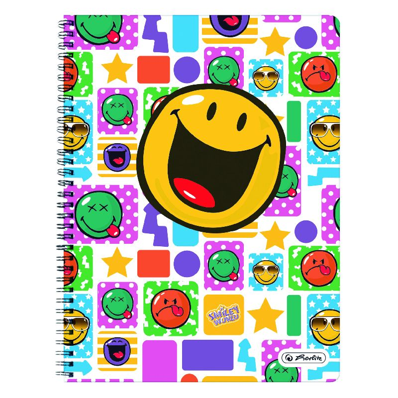 Caiet spira,A4,70file,SmileyWorld Happy,dict
