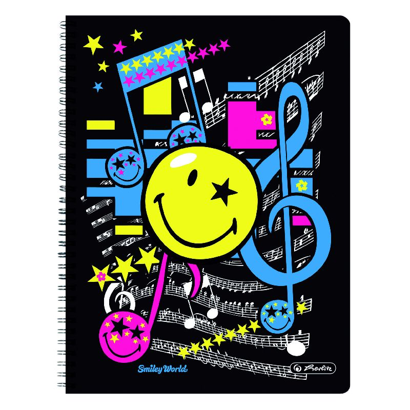 Caiet spira,A4,70file,SmileyWorld Pop,dict