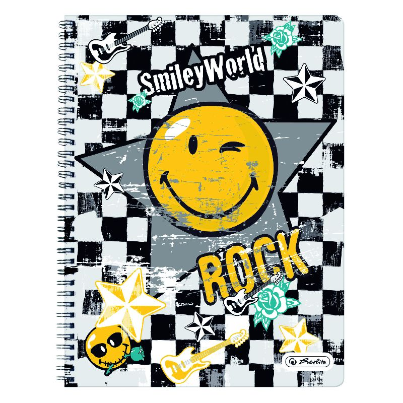 Caiet spira,A4,70file,SmileyWorld Rock,dict