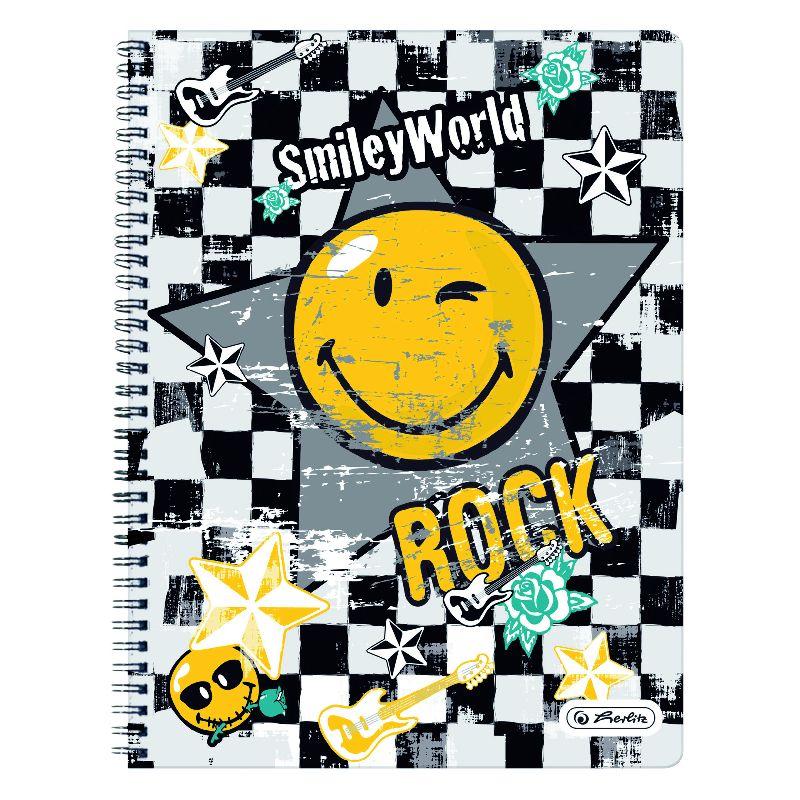 Caiet spira,A4,70file,SmileyWorld Rock,dict