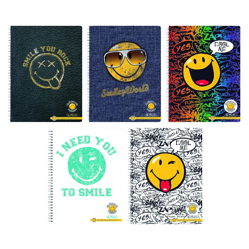 Caiet spira,A4,70file,SmileyWorld Happy,dict