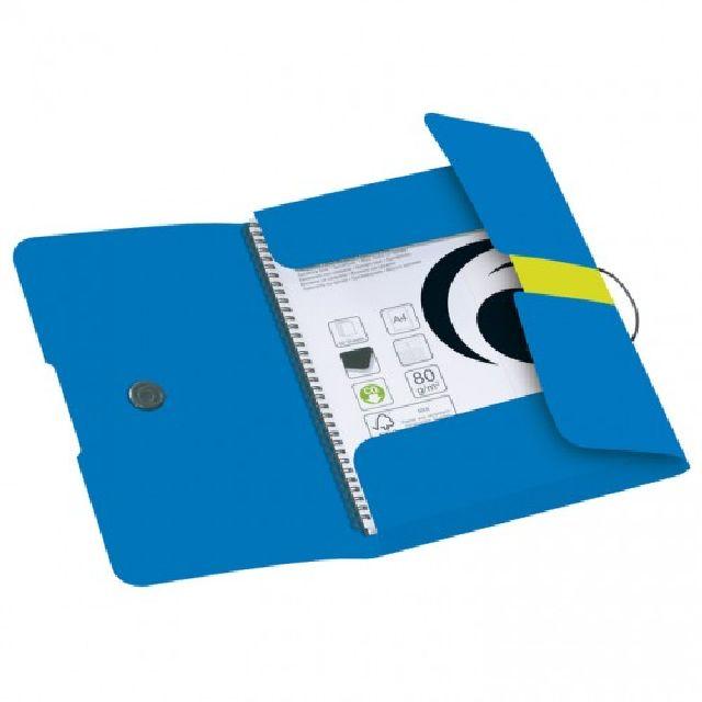 Mapa A4,PP,elastic,tip plic,albastru intens