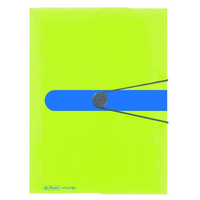Mapa A4,PP,elastic,tip plic,sporty lemon