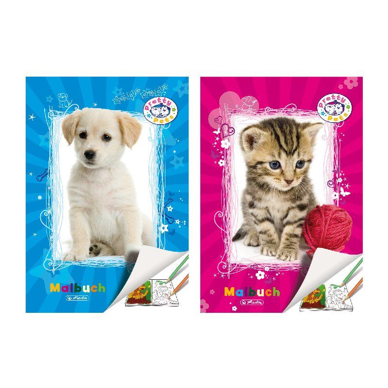 Carte de colorat A4 Pretty Pets,28file