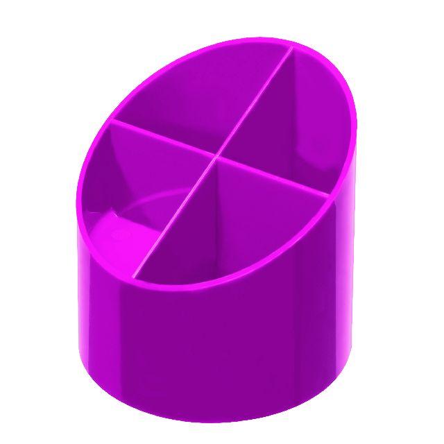 Suport accesori,4compartimente,roz electrizant