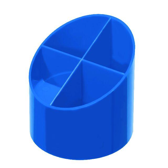 Suport accesori,4compartimente,albastru intens