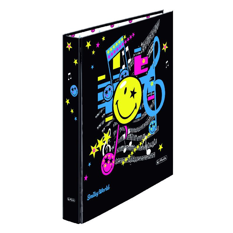 Caiet mecanic A4,PP,2in,Smiley Pop