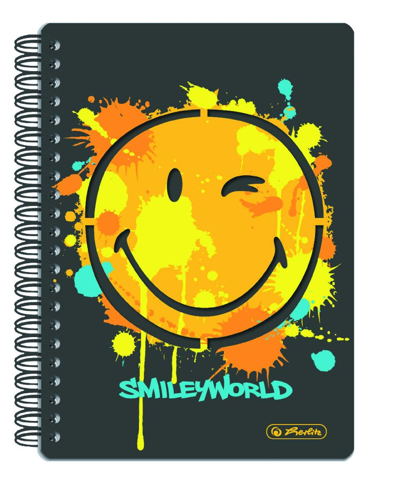 Caiet spira,A5,100file,SmileyWorld LE