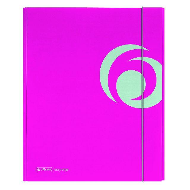 Mapa A4,PP,XL,cu elastic,roz electrizant