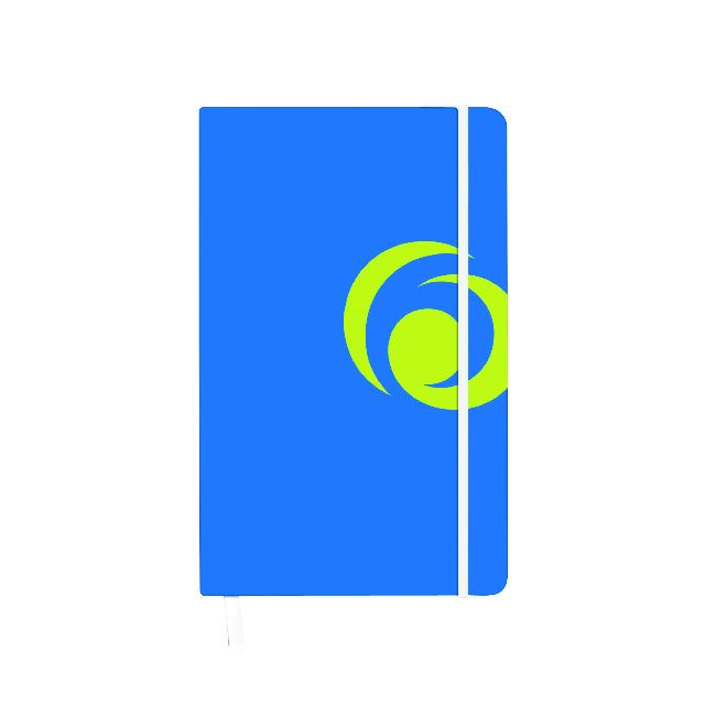 Agenda A6,cu elastic,88f,mate,albastru intens
