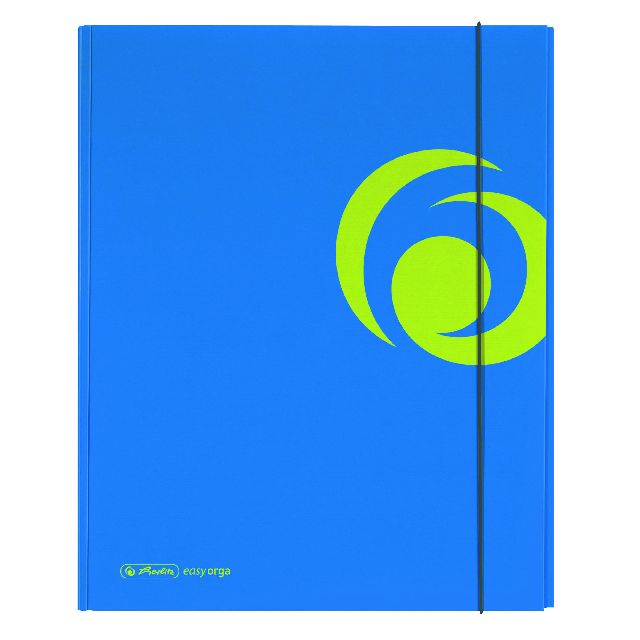 Mapa A4,PP,XL,cu elastic,albastru intens