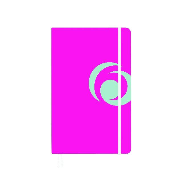 Agenda A6,cu elastic,88f,mate,roz electrizant