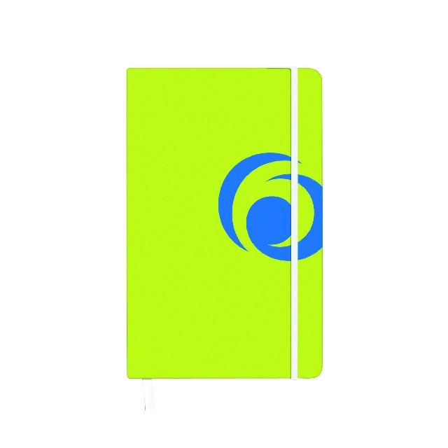 Agenda A6,cu elastic,88f,mate,sporty lemon