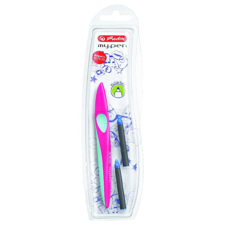 Roller My.Pen,corp roz/turcoaz
