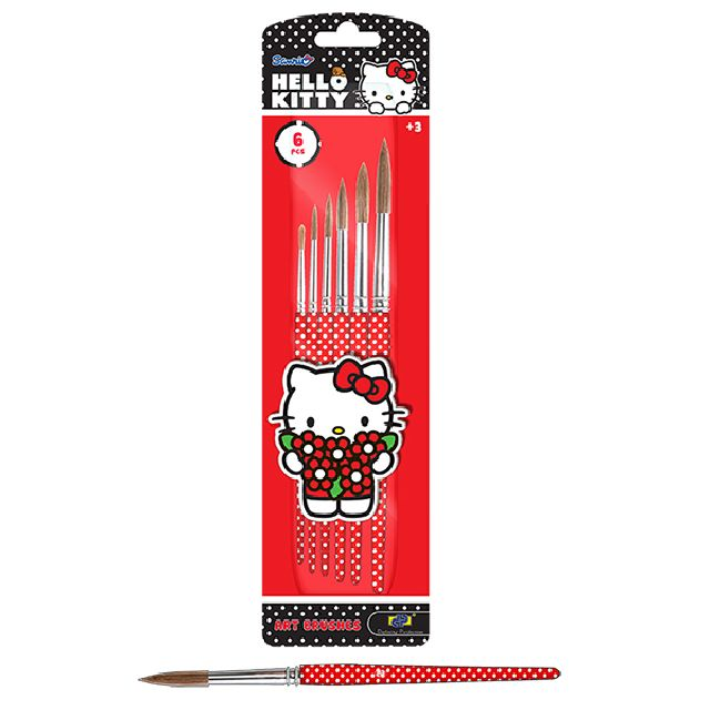 Pensule 6buc/set,Hello Kitty