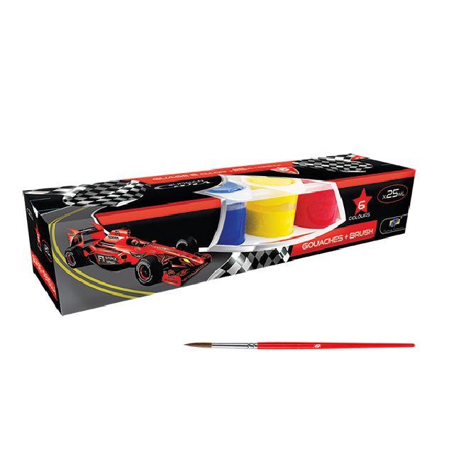 Guase 6 culori,pensula,DP Urban Cars