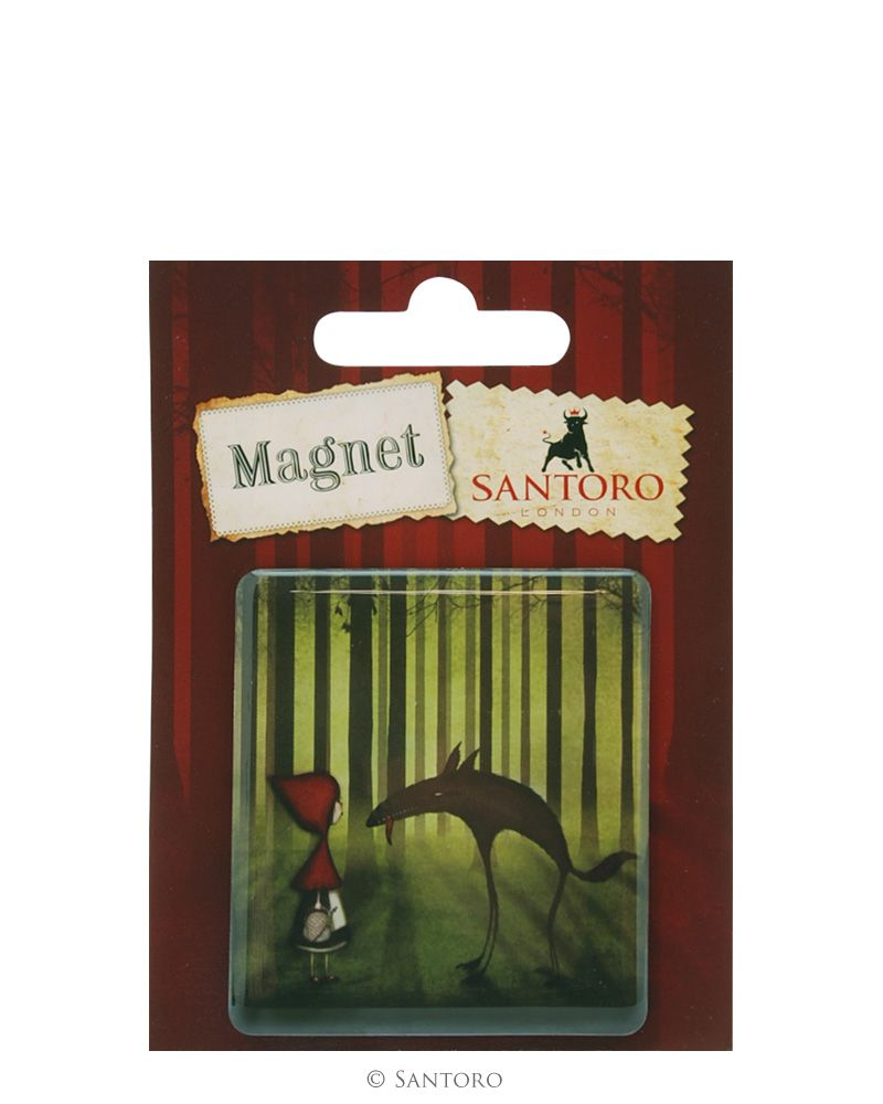 Magnet patrat Red Riding Hood