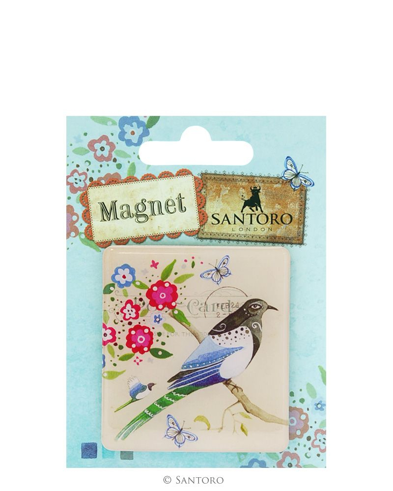 Magnet rotund Black Headed Bird Study