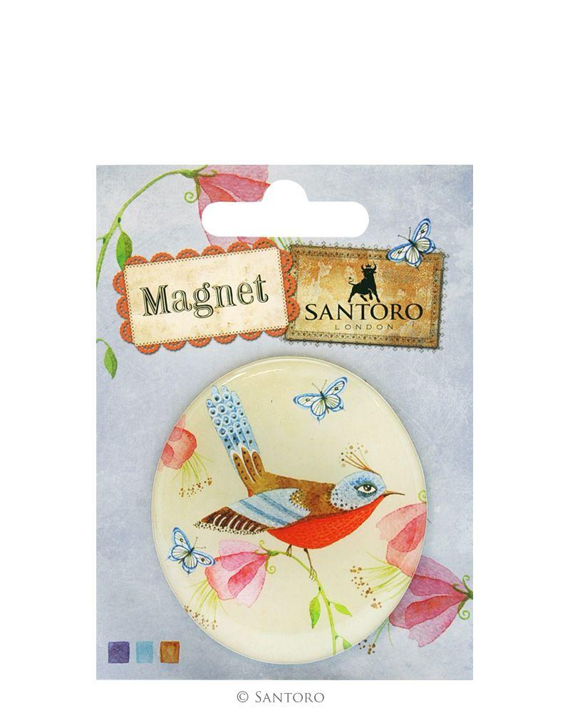 Magnet rotund Summer Garden