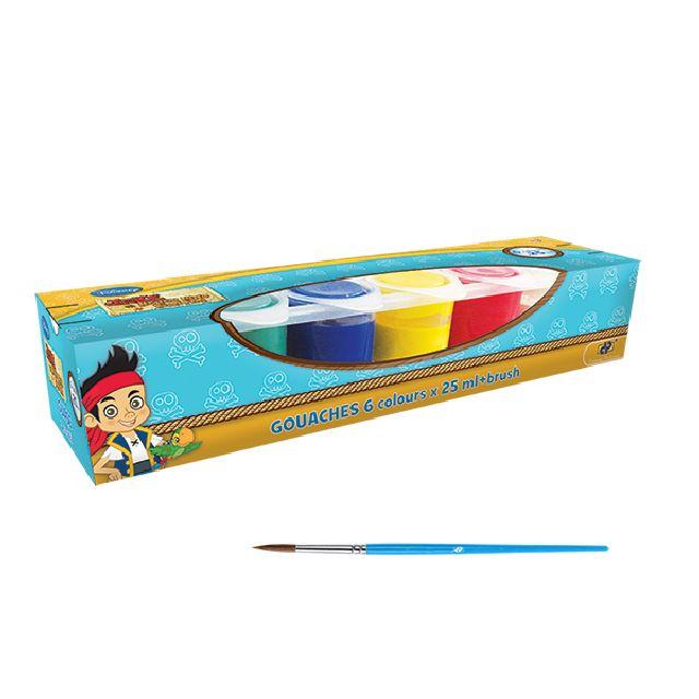 Guase 6 culori,pensula,Jake
