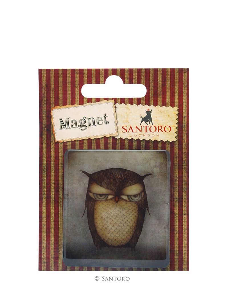 Magnet patrat Grumpy Owl
