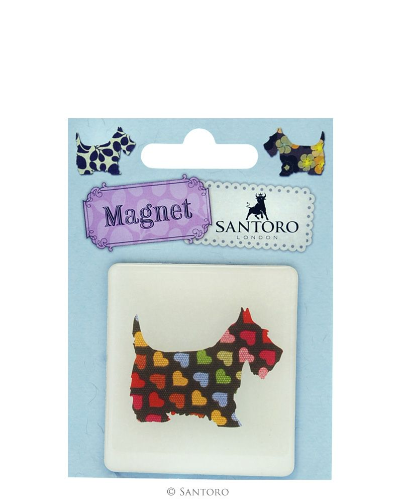Magnet patrat Scottie Dogs