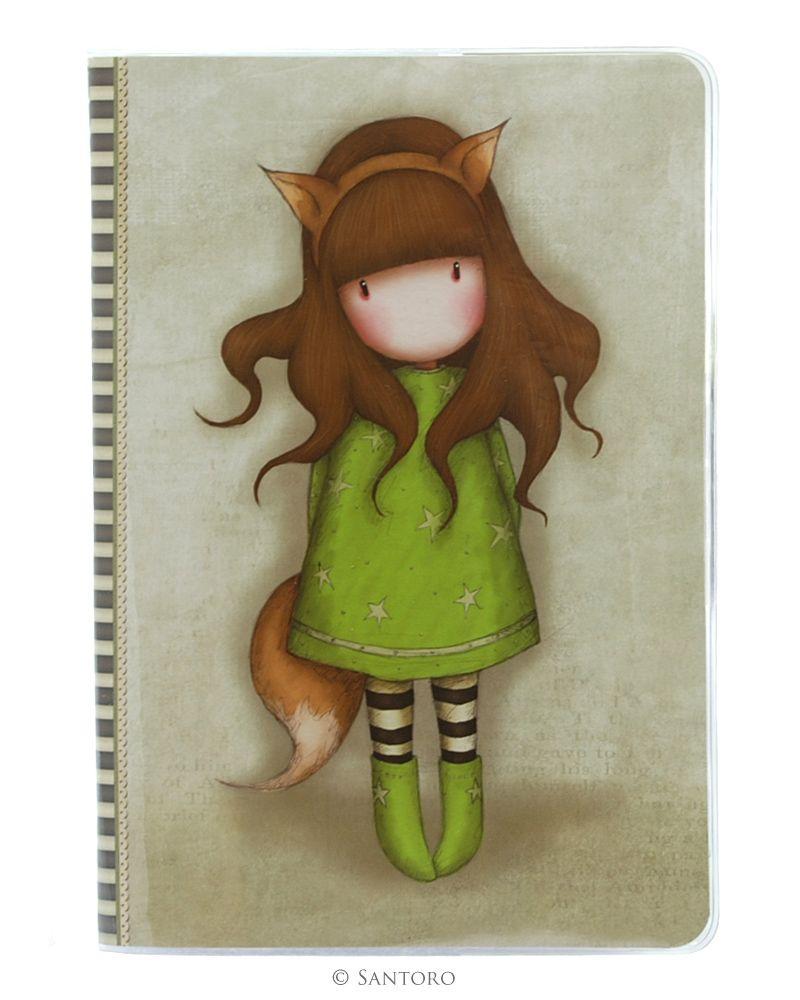 Caiet A5 cusut,PVC,The Fox