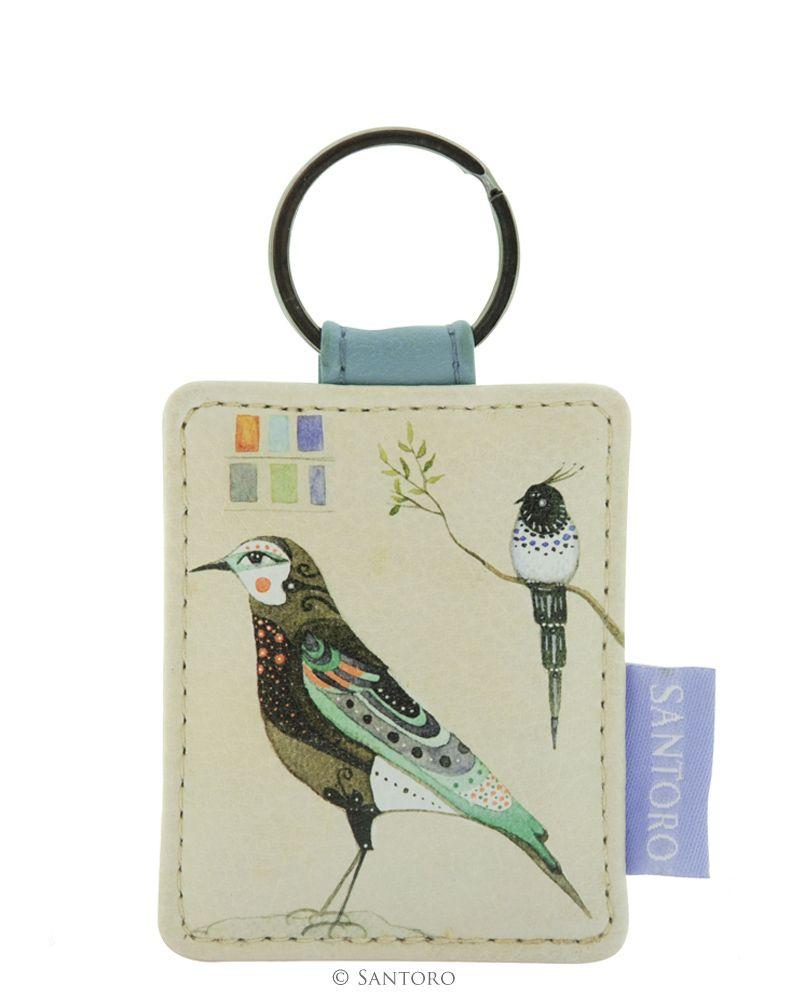 Breloc pentru chei,Watercolour Birds