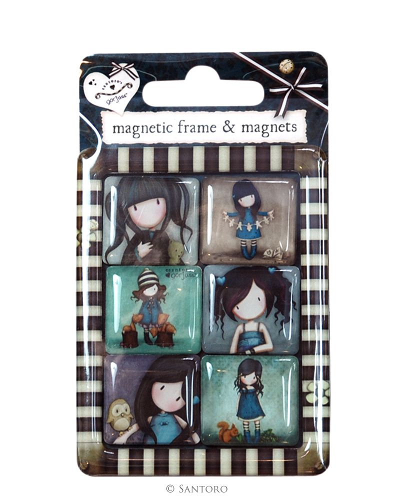 Magneti,6buc/set,Gorjuss,Blue Collection