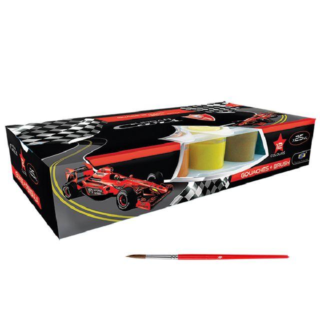 Guase 12 culori,pensula,DP Urban Cars