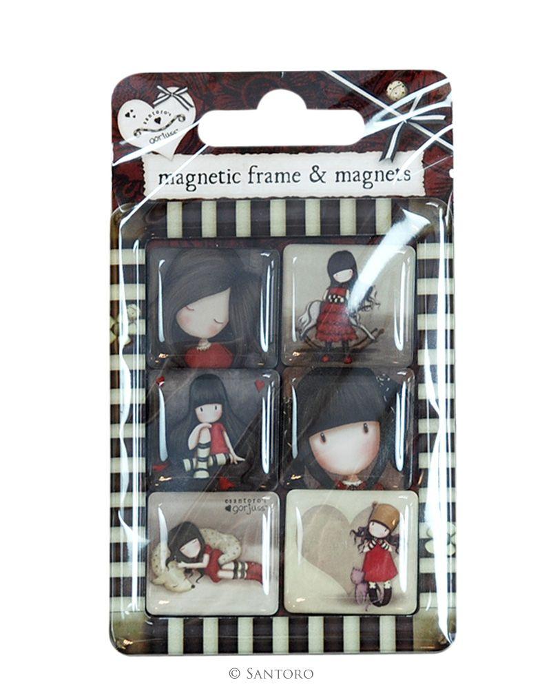 Magneti,6buc/set,Gorjuss,Red Collection