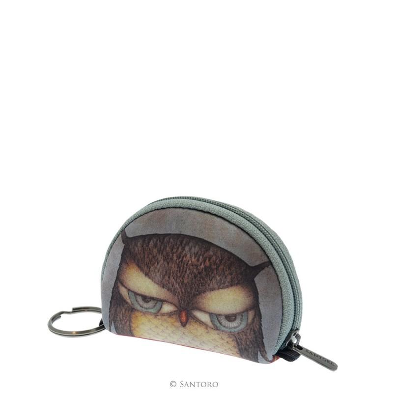 Geanta accesorii,9x7.5x3cm,Grumpy Owl