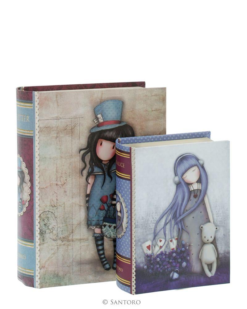 Cutii forma carte,2buc,Hatter/Dear Alice