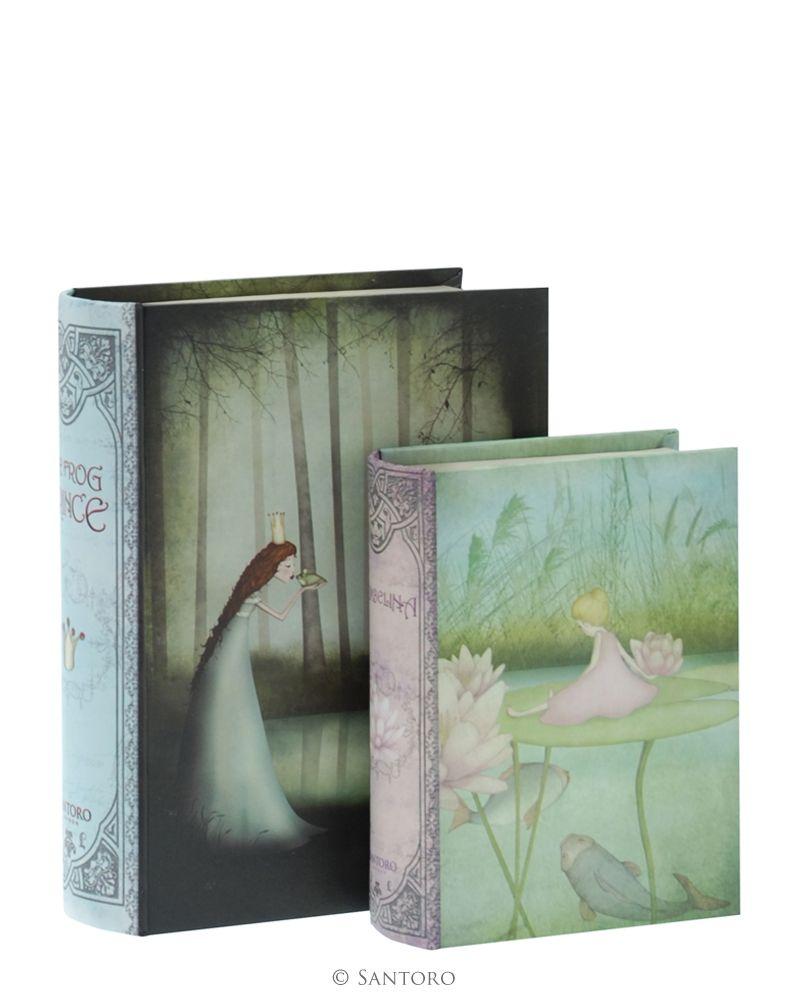 Cutii forma carte,2buc,Frog Prince/Thumbelina