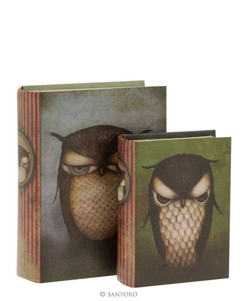 Cutii forma carte,2buc,Grumpy Owl