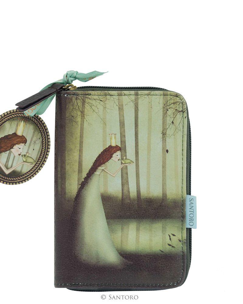 Portofel,17x10x3cm,cu fermoar,Frog Prince